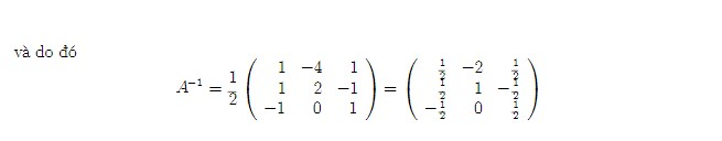 tìm m để ma trận khả nghịch 5